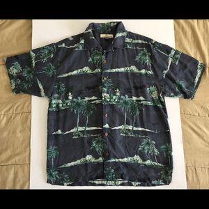 Tommy Bahama 100% Silk Hawaiian Camp Shirt Sz Med